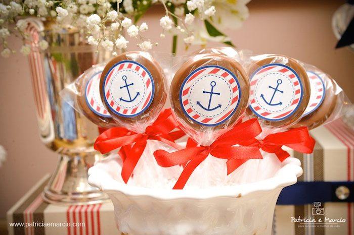 Kara S Party Ideas Nautical Navy Themed Birthday Party