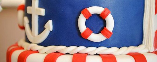 Nautical + Navy themed birthday party via Kara's Party Ideas KarasPartyIdeas.com Cake, banners, printables, food, favors, and more! #nautical #nauticalparty #nauticalbirthdayparty #nauticalideas (2)