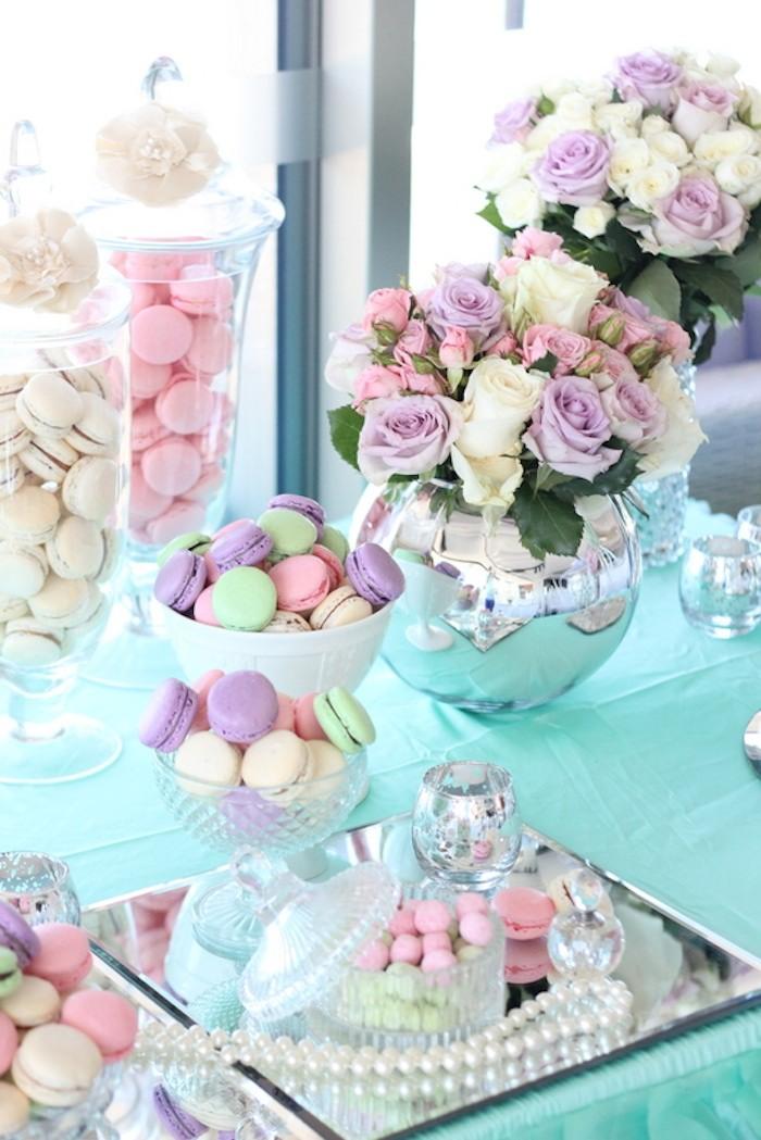 Kara S Party Ideas Pastel Floral Wedding Dessert Table Via