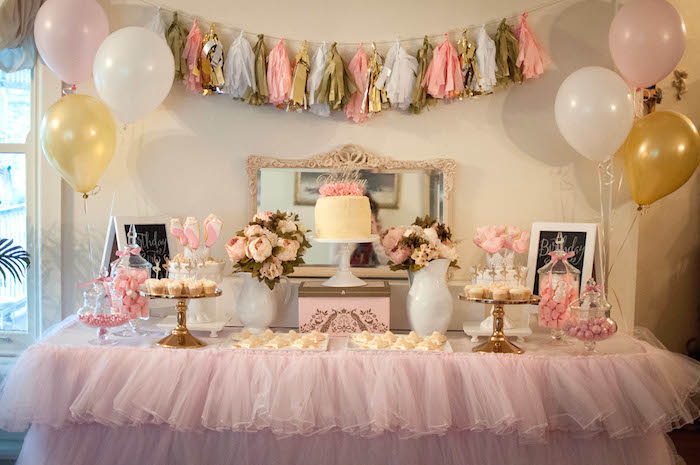 Karas Party Ideas Pink And Gold Ballerina Birthday Party