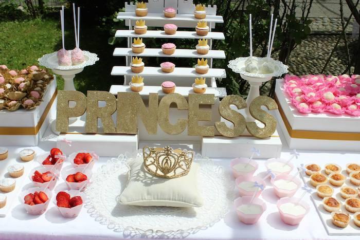 Royal Princess Themed Birthday Party Via Karas Ideas KarasPartyIdeas Cake Favors