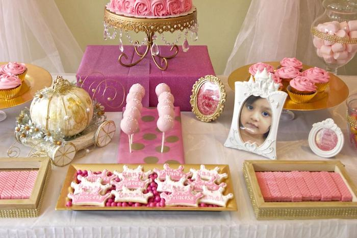Karas Party Ideas Pink Gold Princess Themed Birthday