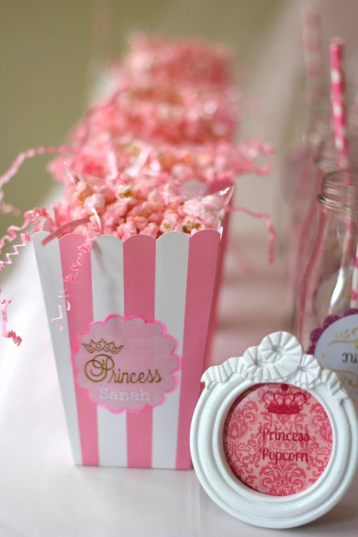 pink gold princess themed birthday party via karas ideas