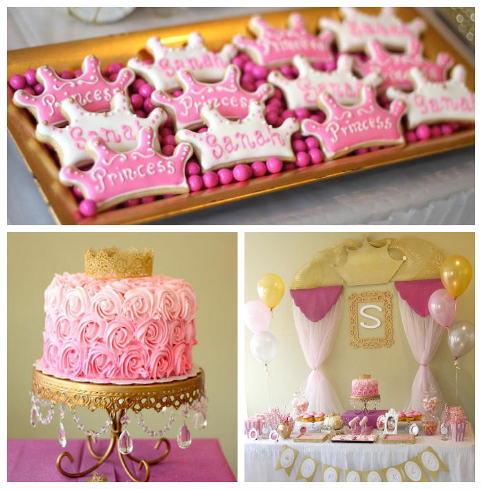 I Am One Pink And Gold Birthday Party Decorations One High: Kara's Party Ideas Pink + Gold Princess Themed Birthday