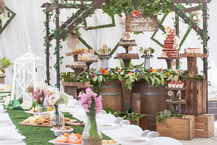 kara 39 s party ideas rustic earthly bridal shower via kara 39 s. Black Bedroom Furniture Sets. Home Design Ideas