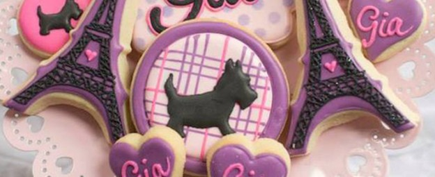 Scottie Dog in Paris birthday party via Kara's Party Ideas KarasPartyIdeas.com Cake, banners, desserts, favors, food, and more! #paris #parisparty #scottiedog #dogparty (1)