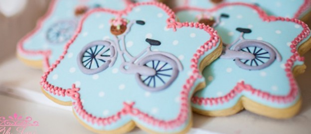 Shabby Chic Bicycle Baby Shower via Kara's Party Ideas KarasPartyIdeas.com Cake, banners, desserts, favors, and more! #shabbychicparty #bicycleparty #shabbychicpartyideas #shabbychicbabyshower #girlbabyshower (2)