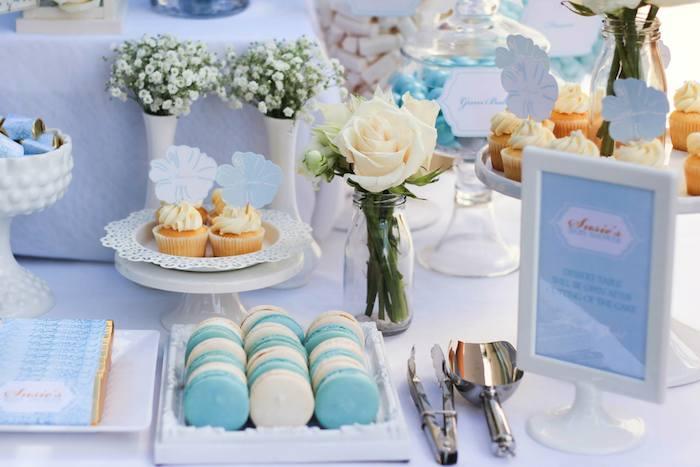 Wonderful Blue U0026 Gold Baby Shower Via Karau0027s Party Ideas KarasPartyIdeas.com Cake,  Supplies,