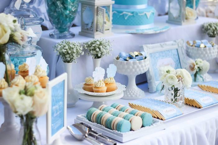 Blue U0026 Gold Baby Shower Via Karau0027s Party Ideas KarasPartyIdeas.com Cake,  Supplies,