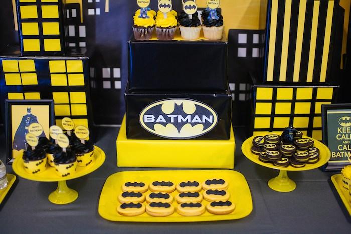 Karas Party Ideas Batman themed birthday party via Karas Party