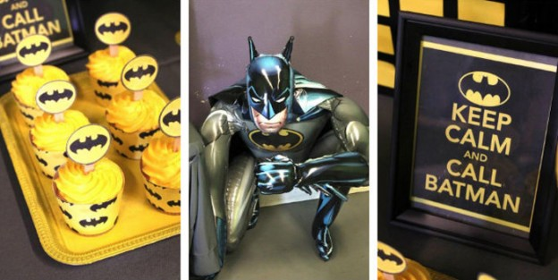 Batman themed birthday party via Kara's Party Ideas KarasPartyIdeas.com Printables, decor, banners, favors, food, and more! #batman #batmanparty #batmanpartyideas #boypartyideas (1)