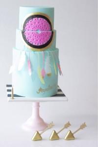 Boho Dreamcatcher Inspired Birthday Party via Kara's Party Ideas KarasPartyIdeas.com Cake, printables, supplies, recipes, favors, cupcakes, and more! #boho #dreamcatcherparty #bohoparty #craftparty #bohobirthday #dreacmcatcher (18)