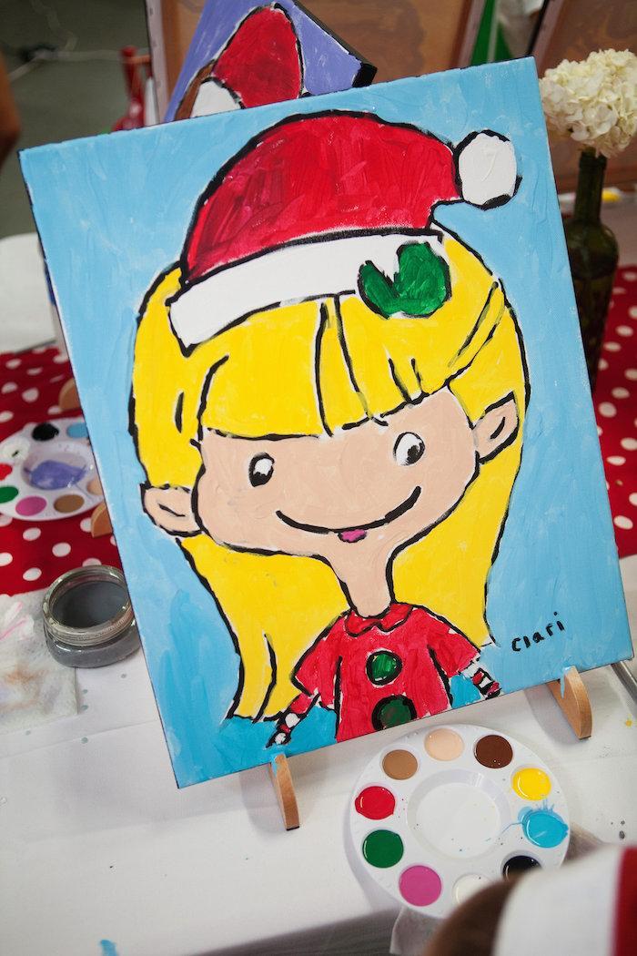 kara u0026 39 s party ideas christmas elf painting party via kara u0026 39 s