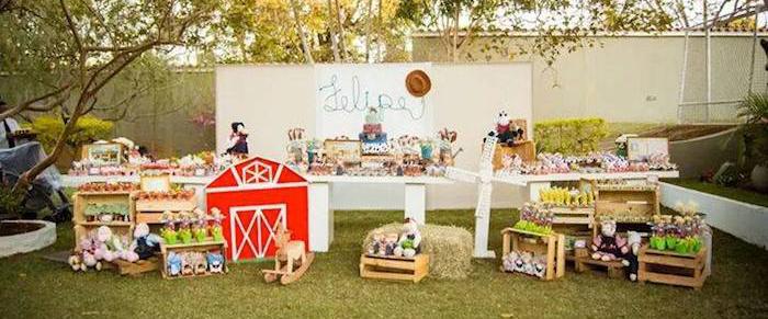 Kara S Party Ideas Farm Themed Birthday Party