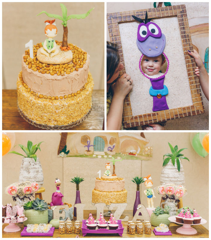 Kara's Party Ideas Flintstones Themed Birthday Party Via
