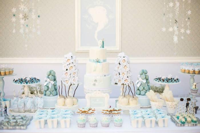 Kara S Party Ideas Frozen Winter Wonderland Birthday Party