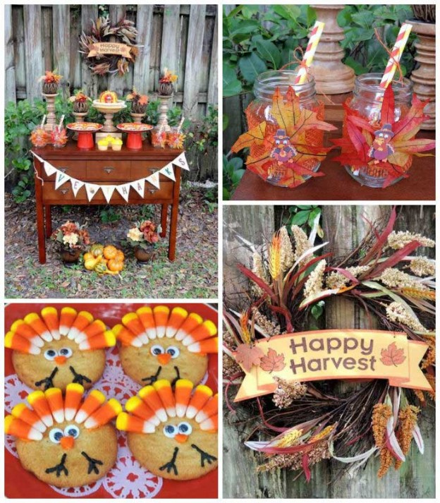 Happy Harvest Thanksgiving Dessert Table via Kara's Party Ideas KarasPartyIdeas.com Desserts, favors, printables, food, games, and more! #thanksgiving #thanksgivingparty #thanksgivingdessert #happyharvest #harvestparty #thanksgivingdesserttable (1)