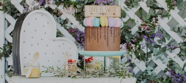Love Is Sweet Wedding Dessert Table via Kara's Party Ideas KarasPartyIdeas.com Cake, decor. supplies, desserts, favors, and more! #weddingdesserttable #loveissweet #gardenparty (1)