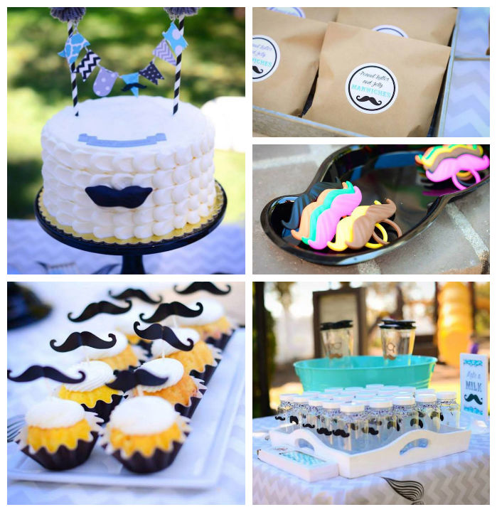Little Man Mustache Bash Via Karas Party Ideas KarasPartyIdeas Cake Printables Cupcakes