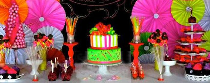 Kara S Party Ideas Neon Themed Birthday Party