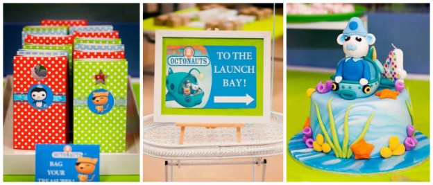 Octonauts themed birthday party via Kara's Party Ideas KarasPartyIdeas.com Cake, supplies, recipes, tutorials, banners, food, and more! #octonauts #octonautsparty #octonautscake (2)