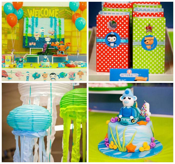 Karas Party Ideas Octonauts themed birthday party via Karas