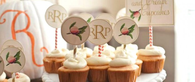 Sweet Georgia Peach Baby Shower via Kara's Party Ideas KarasPartyIdeas.com #georgiapeach #genderneutralbabyshower #fallpartydecor #fallpartyideas #peachparty #peach #karaspartyideas (1)