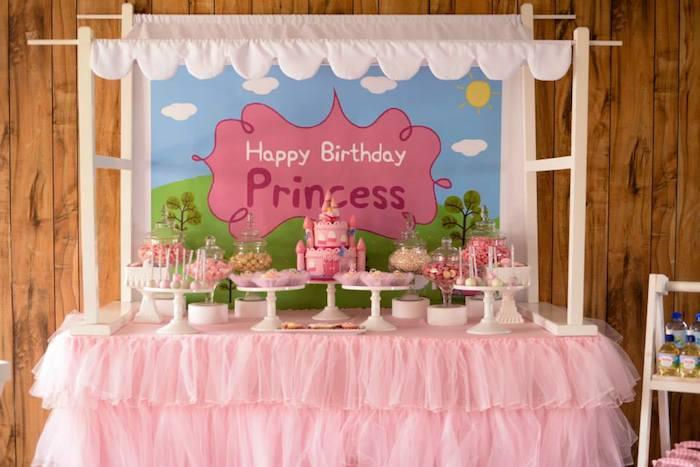 Kara S Party Ideas Peppa Pig Princess Themed Birthday