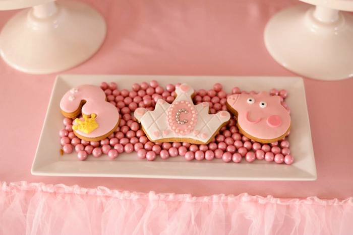 Karas Party Ideas Peppa Pig Princess Themed Birthday