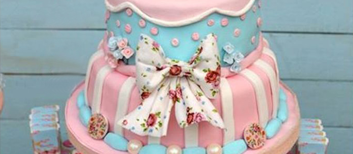 Karas Party Ideas Shabby Chic Baptism Birthday