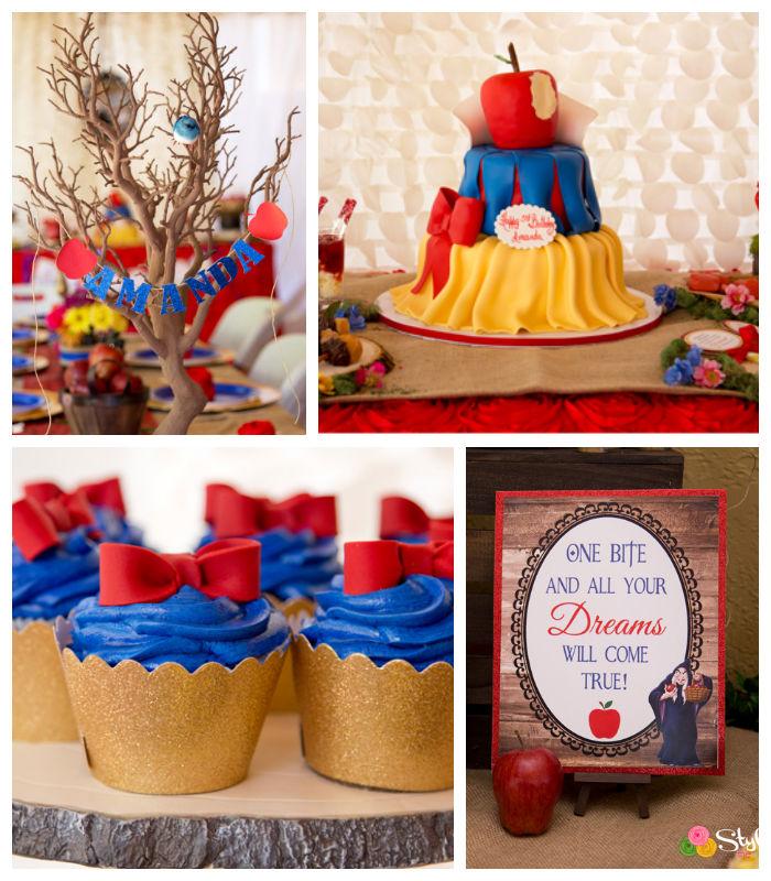 Kara's Party Ideas Rustic Glam Snow White Birthday Party