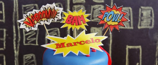 Superhero themed birthday party via Kara's Party Ideas KarasPartyIdeas.com Cake, printables, desserts, supplies, tutorials, and more! #superheroparty #superherocake #superhero #superheropartyideas (1)