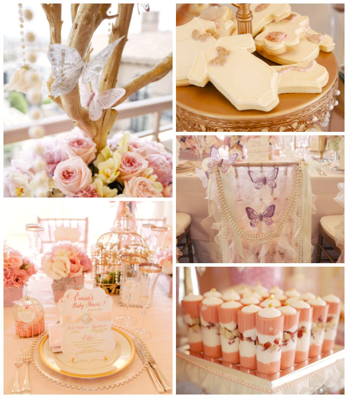 Baby Girl Baby Shower Food Ideas: Kara's Party Ideas Whimsical Chic Baby Shower Via Kara's