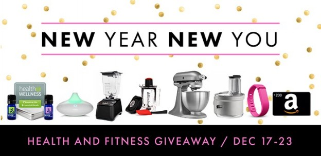 New Year New You HUGE Giveaway! Fitness and Health! Blendtec, Kitchenaid and more!