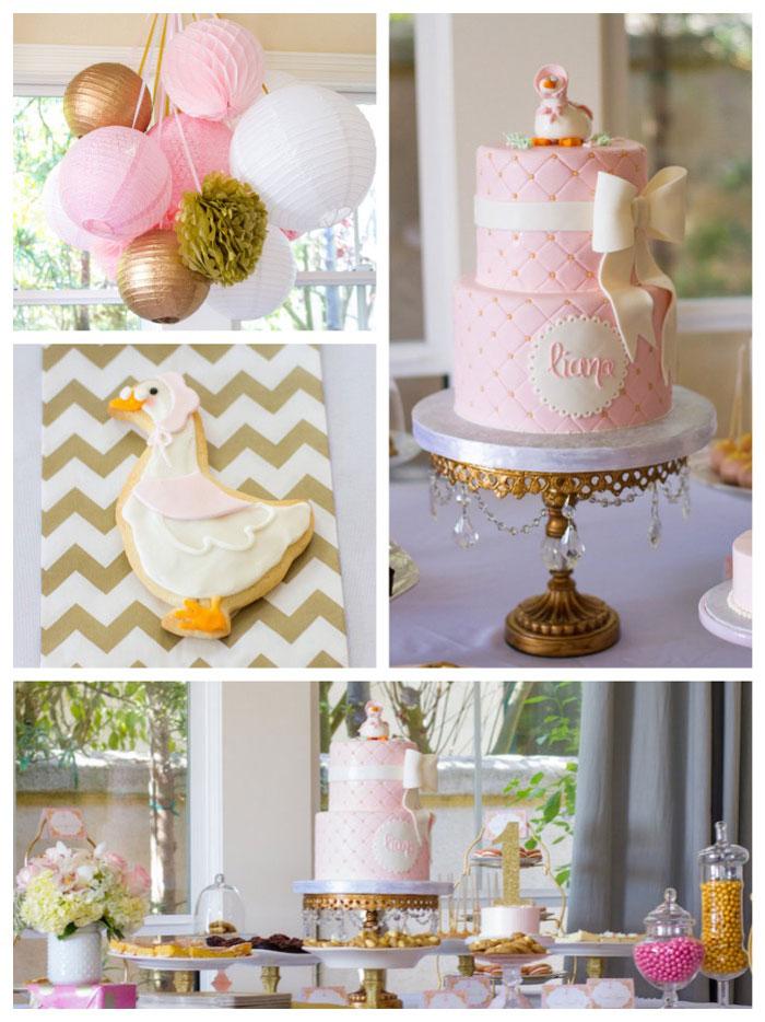 Elegant Birthday Cake Decorating Ideas : Kara s Party Ideas Elegant Mother Goose Birthday Party via ...