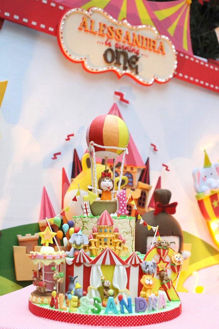Carnival Amusement Park Themed Birthday Party Via Karas Ideas KarasPartyIdeas Cake