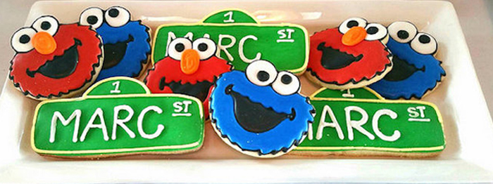 Karas Party Ideas Elmo Cookie Monster Sesame Street Birthday