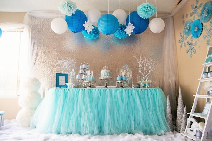 Frozen Themed Decoration Ideas Part - 22: Karau0027s Party Ideas