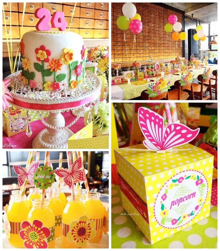 Kara's Party Ideas » Colorful Garden Themed Birthday Party