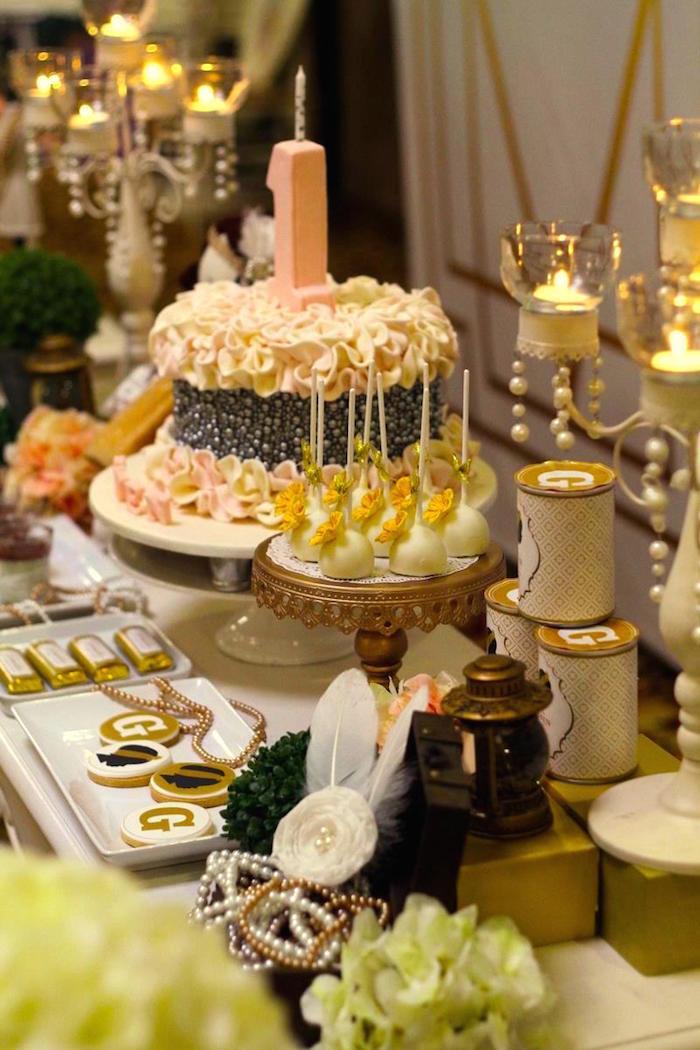 Kara S Party Ideas Great Gatsby 1920 S Themed 1st Birthday