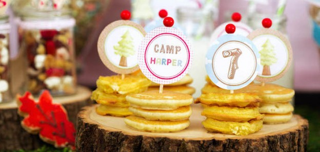 Glamping Birthday Party via Kara's Party Ideas KarasPartyIdeas.com Recipes, tutorials, cake, printables, favors, and more! #glampingparty #glamping #girlycampingparty #campingparty (1)