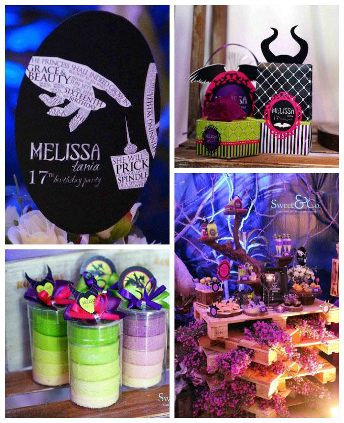 Kara S Party Ideas 187 Maleficent Themed 17th Birthday Party