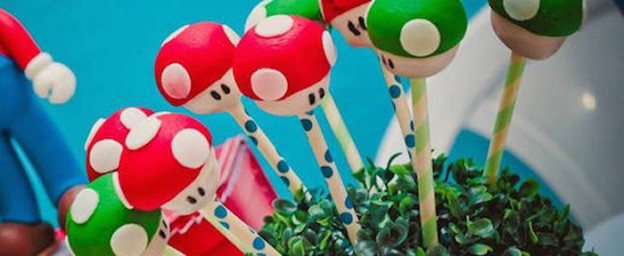 Super Mario World Birthday Party via Kara's Party Ideas KarasPartyIdeas.com Printables, tutorials, cake, supplies, recipes, and more! #supermariobros #supermariobrosparty #marioparty #supermariobroscake #mariobrosparty (1)