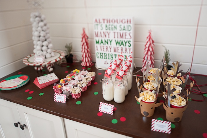 Charming Christmas Dessert Party Ideas Part - 12: Be Merry Christmas Party Via Karaus Party Ideas Cake Decor Printables