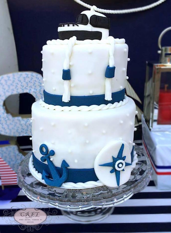 Kara S Party Ideas 187 Nautical Themed 1st Birthday Party