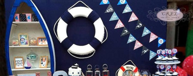 Nautical themed 1st birthday party via Kara's Party Ideas KarasPartyIdeas.com Printables, tutorials, cake, desserts, favors, food, and more! #nautical #nauticalparty #nauticalbirthdayparty #sailboatparty (1)