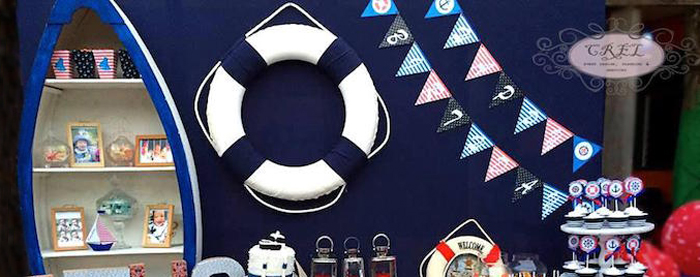 Kara S Party Ideas Nautical Themed First Birthday Party