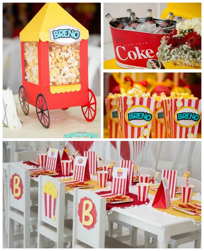 karas party ideas popcorn themed birthday party via kara