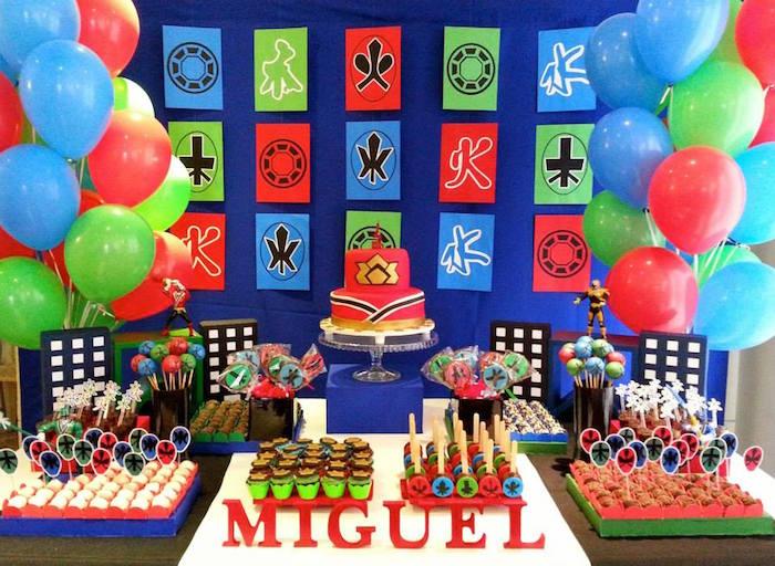Power Rangers Samurai Birthday Party Via Karas Ideas KarasPartyIdeas Cake Supplies