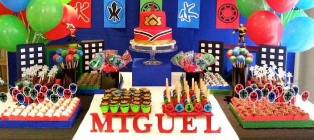Power Rangers Samurai Birthday Party via Kara's Party Ideas KarasPartyIdeas.com Cake, supplies, decor, favors, food, and more! #powerrangers #powerrangersparty #samuraiparty (2)